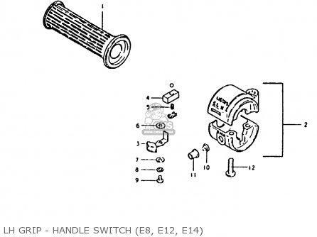 Suzuki Fr80 1981 (x) (e02 E08 E12 E14 E95) parts list