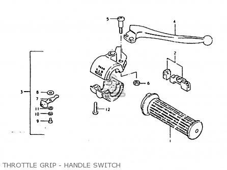 Suzuki Fr80 1981 (x) parts list partsmanual partsfiche