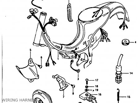 Suzuki Fr80 1982 (z) parts list partsmanual partsfiche