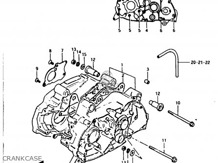 Suzuki Fr80 1983 (d) parts list partsmanual partsfiche