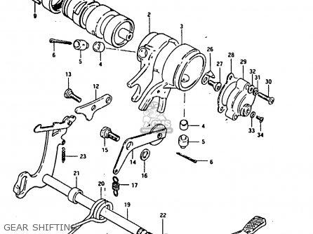 Suzuki Fr80 1983 (d) parts list partsmanual partsfiche