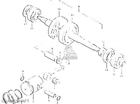 Suzuki Fs50 1980 (t) parts list partsmanual partsfiche