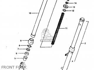 Suzuki FS50 1981 (X) USA (E03) parts lists and schematics