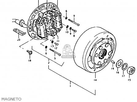 Suzuki Fz50 1979 (n) parts list partsmanual partsfiche