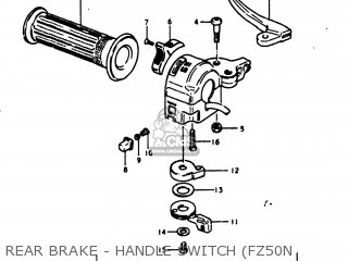 Suzuki Fz50 1981 (x) Usa (e03) parts list partsmanual