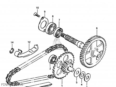 Suzuki FZ50 1986 (G) (E01 E16 E24 E25 E26) parts lists and