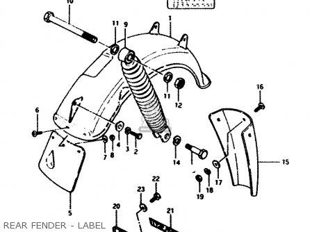 Suzuki FZ50 1989 (K) (E01 E16 E24 E26) parts lists and