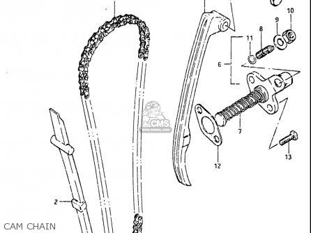 Suzuki Gn125 1982-1983 (usa) parts list partsmanual partsfiche