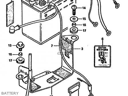 Suzuki Gn125 1982 (z) parts list partsmanual partsfiche