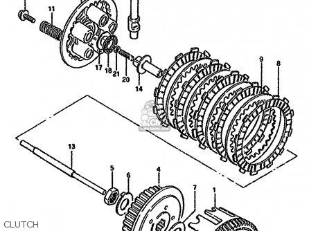Suzuki GN125 1982 (Z) (E01 E02 E04 E18 E30) parts lists