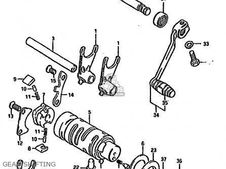 Suzuki GN125 1983 (D) (E01 E04 E18) parts lists and schematics