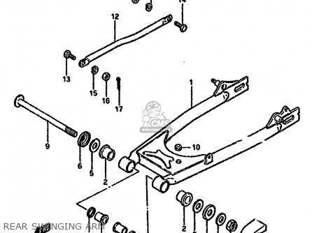 Suzuki Gn125 1989 (k) parts list partsmanual partsfiche