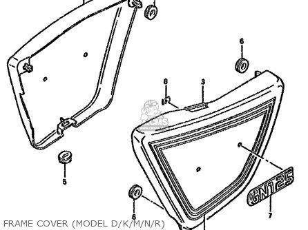 Suzuki Gn125 1991 (m) (e01 E02 E04 E21 E34) parts list