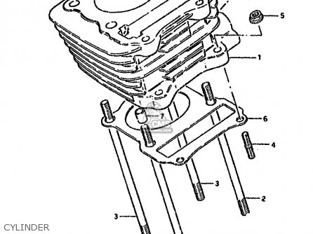 Suzuki Gn125 1992 (n) parts list partsmanual partsfiche