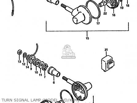 Suzuki Gn125 1992 (n) parts list partsmanual partsfiche
