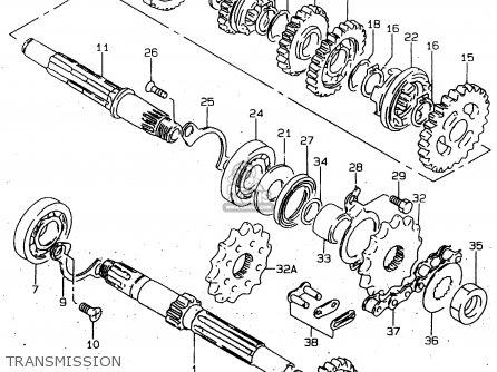 Suzuki Gn125 1997 (v) (e01 E02 E04 E18 E21 E22) parts list