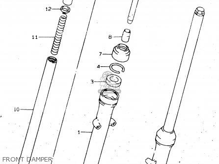 Suzuki Gn125 1997 (v) parts list partsmanual partsfiche