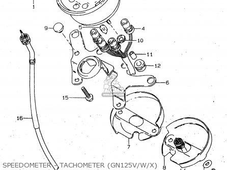 Suzuki Gn125 1998 (w) (e02 E04 E18 E21 E22) parts list