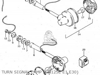 Suzuki Gn125 1999 (ux) parts list partsmanual partsfiche