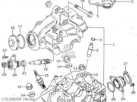Suzuki Gn125 1999 (x) parts list partsmanual partsfiche