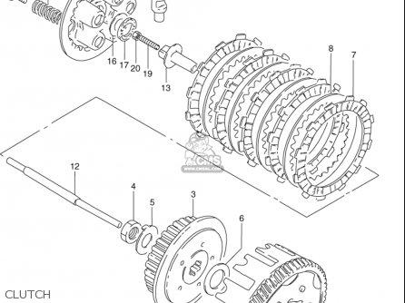 Suzuki Gn125 E 1997 (usa) parts list partsmanual partsfiche