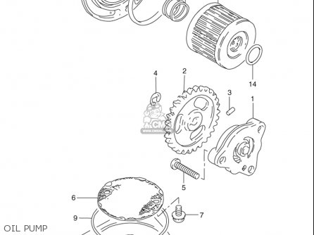 Suzuki Gn125 E 1997 (usa) parts list partsmanual partsfiche