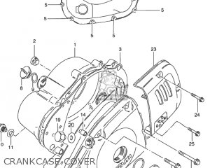 Suzuki GN125E 1995 (S) USA (E03) parts lists and schematics