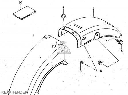 Suzuki Gn125u 1997 (v) Germany (e22) parts list