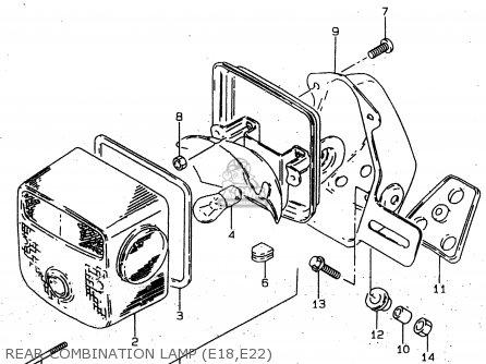Suzuki GN125U 1999 (X) GERMANY (E22) parts lists and