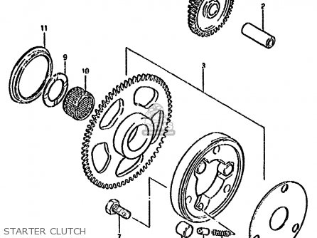 Suzuki Gn250 1985 (f) parts list partsmanual partsfiche