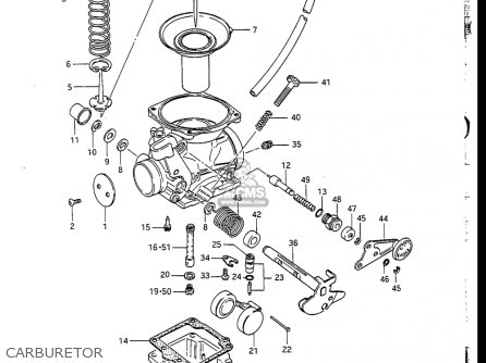 Suzuki Gn250 1985, 1988 (usa) parts list partsmanual