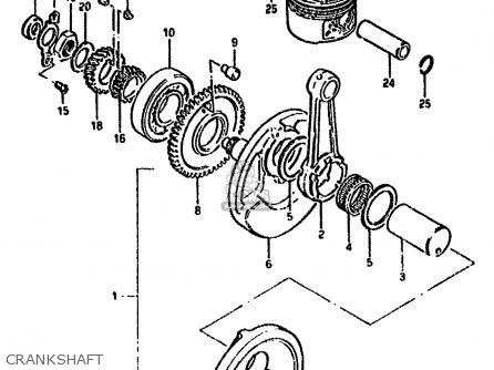 Suzuki GN250 1988 (J) (E2 E22 E24 E39 E53) parts lists and