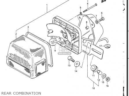 Suzuki GN250 1988 (J) USA (E03) parts lists and schematics