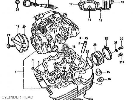 Suzuki Gn250 1989 (k) parts list partsmanual partsfiche