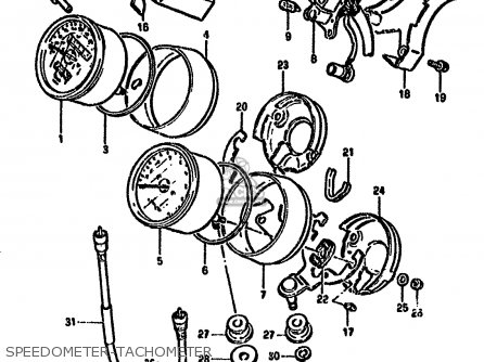 Suzuki Gn250 1994 (er) parts list partsmanual partsfiche