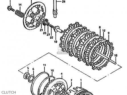 Suzuki Gn250 1994 (r) parts list partsmanual partsfiche