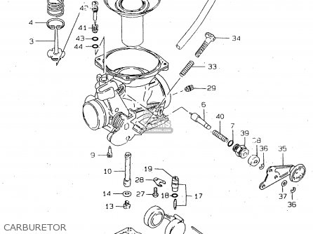 Suzuki Gn250 1996 (t) parts list partsmanual partsfiche