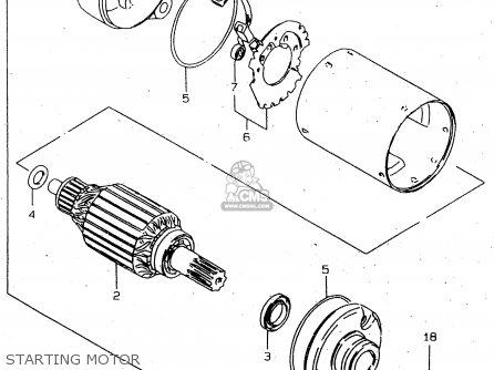 Suzuki Gn250 1998 (ew) parts list partsmanual partsfiche