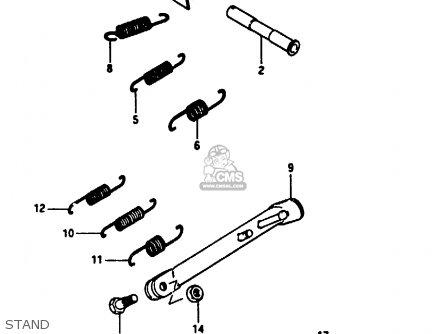 Suzuki Gn250e 1991 (m) General (e01) parts list