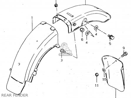Suzuki Gn250e 1999 (x) General (e01) parts list