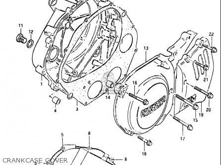 Suzuki Gn400 T 1982 (usa) parts list partsmanual partsfiche