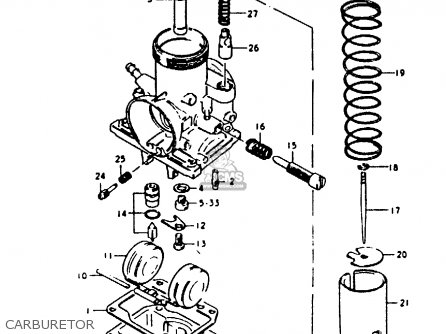 Suzuki Gp100 1979 (un) parts list partsmanual partsfiche