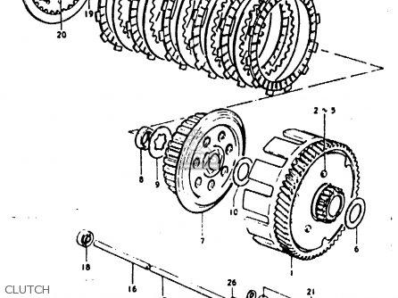 Suzuki Gp100 1979 (un) parts list partsmanual partsfiche