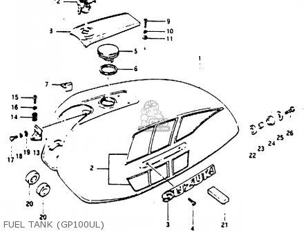 Suzuki Gp100 1981 (x) United Kingdom (e02) parts list