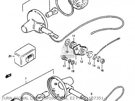 Suzuki GP100 1981 (X) UNITED KINGDOM (E02) parts lists and