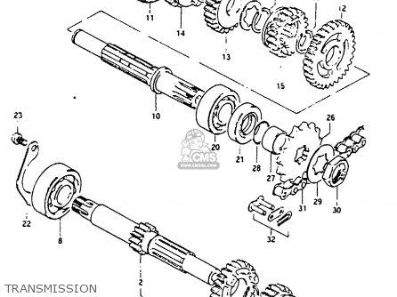 Suzuki GP100 1983 (D) UNITED KINGDOM (E02) parts lists and