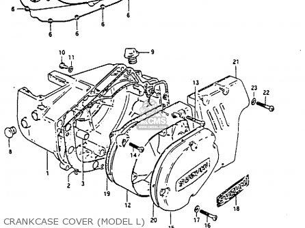 Suzuki Gp100u 1981 (x) United Kingdom (e02) parts list