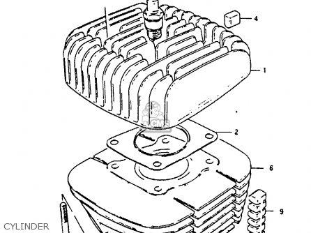 Suzuki Gp100u 1990 (l) parts list partsmanual partsfiche