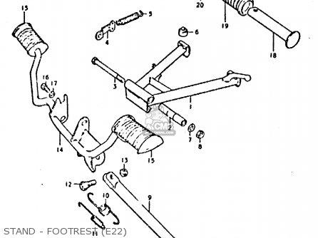 Suzuki Gp125 1978 (c) (e01 E02 E04 E06 E13 E17 E18 E21 E22