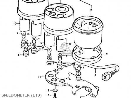 Suzuki Gp125 1979 (n) parts list partsmanual partsfiche